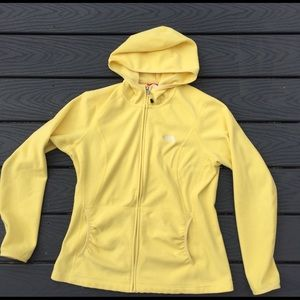 Bright yellow North face fleece